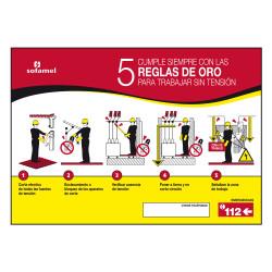 CRO-42P SEÑAL 5 REG ORO 420 X 297MM CRO-42P P730140